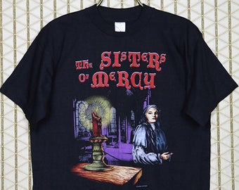 Sisters of Mercy T-shirt, vintage rare black tee shirt, double sided