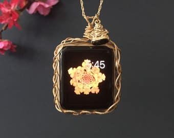 Apple Watch 38mm Necklace-Eco Friendly 14k Gold Filled Apple Watch Jewelry Apple Watch Pendant Apple Watch Protector 38mm