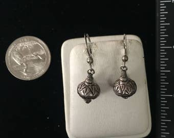 Vintage Sterling Silver Ball Earrings - AB