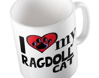 I love my Ragdoll cat - mug