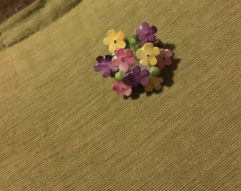 Cara China Staffordshire Flower Cluster Pin Brooch