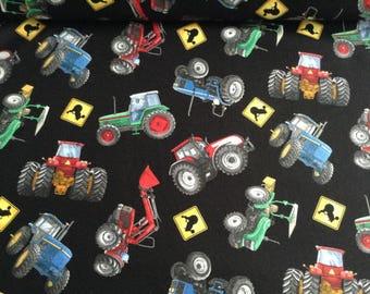 Tractor Farm Equipment Fabric by Elizabeth Studio