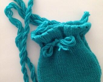 Handknitted girls shoulder bag