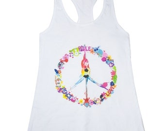 Pole Dance Jersey Racerback Tank || Peace, Pole, Love