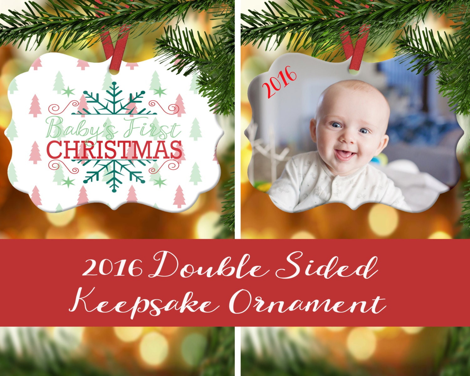 New baby christmas ornament - Baby S First Christmas Ornament Baby S 1st Chrismas Photo Ornament Family S First Christmas New Mom Gift New Baby Christmas Gift