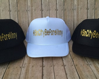 Custom Hashtag, Bridal Party Trucker Hats, Sets of Hats, Bachelorette Trucker Hats, Personalized Trucker Hats, Custom Printed Trucker Hats