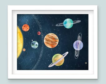 Instant Download, Planet Prints, Solar System, Playroom, Outer Space, Planet Decor, Outer Space Decor, Space Nursery Decor, Nursery Decor