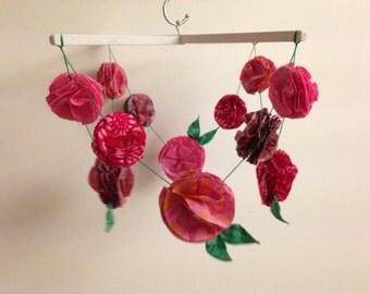 Pink Floral Mobile