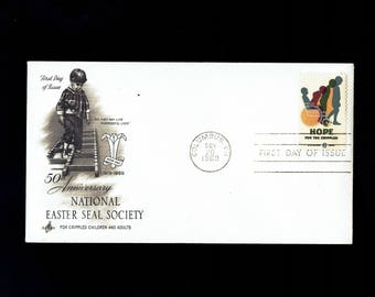 US 1385 Hope for the Crippled Nov 20, 1969 Columbus OH  - Artcraft - First Day Cover lot #F1385-1