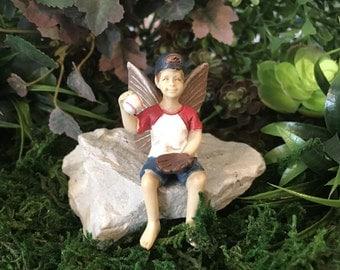Miniature Fairy Jeff - Baseball Player