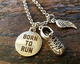 Born to Run Charm Necklace
