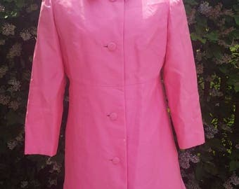 1960s Pink Coat - 1960s Mod