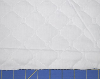 Single Sided White Quilted Fabric (By The Yard)