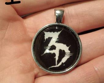 Zeds Dead Pendant. Glass Cabochon.