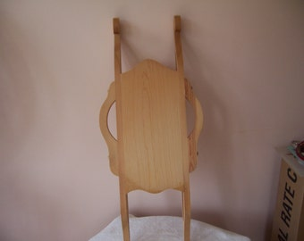 "Unfinished Wood Victorian Sled - 30"" x 12 5/8"""