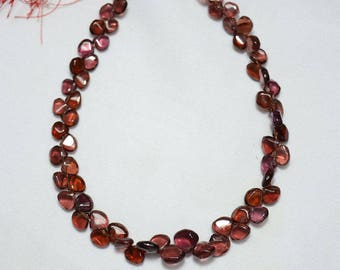 Garnet Heart Shape Beads, 5mm Beads, Garnet Plain Heart Shape Briolettes, Gemstone For Jewelry, 5 Inches Strand