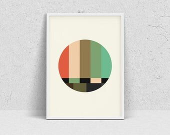 SMTPE minimalist poster, modern wall art print