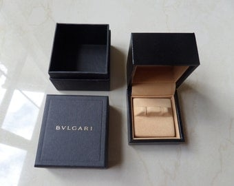 Bvlgari Cufflinks Box, inner and outer new 100% Genuine