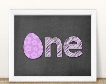 First Birthday Photo Prop, Birthday Chalkboard, 1st Birthday Sign, Baby's First, Printable Chalkboard, Easter Birthday Prop, Milestone Sign