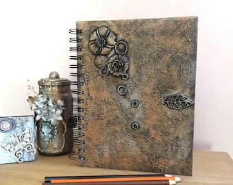 Sketchbook, Spiral sketchbook, Sketch, Art book, Watercolour paper, Flower sketchbook, Gothic sketchbook, Artist sketchbook, A5 book.
