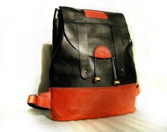 Today : only 85  EUR SALE!  Leather backpack , women backpack, leather backpack, leather rucksack, handmade Backpack leather backpack women