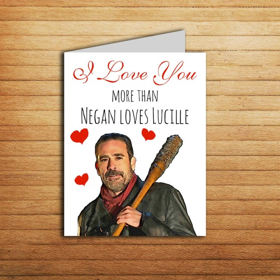 lucilles gift card the walking dead card funny anniversary cards negan loves 3207