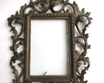 Art Nouveau Standing Square Picture Frame with Glass