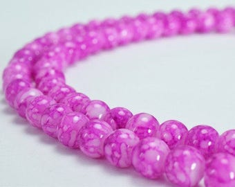 Two Tone Purple Glass Beads Round 6mm Shine Round Beads For Jewelry Making Item#789222045555