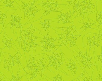 Tattooed in Quantum Green by Libs Elliot from Andover Fabrics - 1/2 yard
