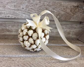 Pomander ball shell, beach theme wedding