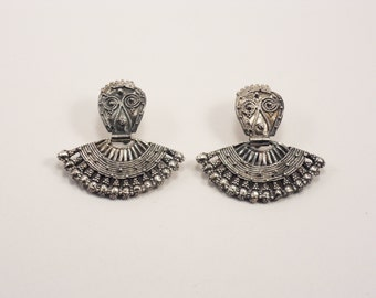 "Traditional Bulgarian Ethno silver earrings ""Vidinski"""
