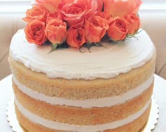 Triple Layered Naked Cake