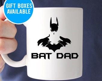 Bat Dad Mug, Batman Mug, Father Mug, Fathers Day Mug, Father Gift, Dad Gift, Geek Dad, Dad Coffee Mug, Geek Dad Gift, Gift for Dad, Bat Dad