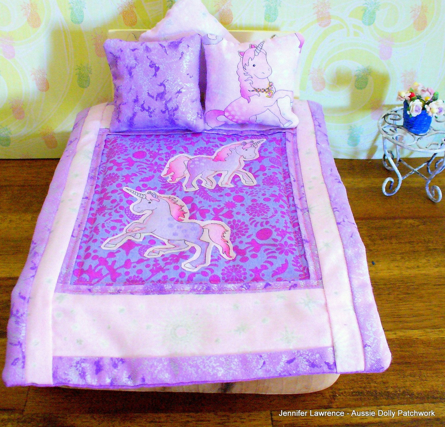 Barbie scale 1 6th Pink and Purple Unicorn s
