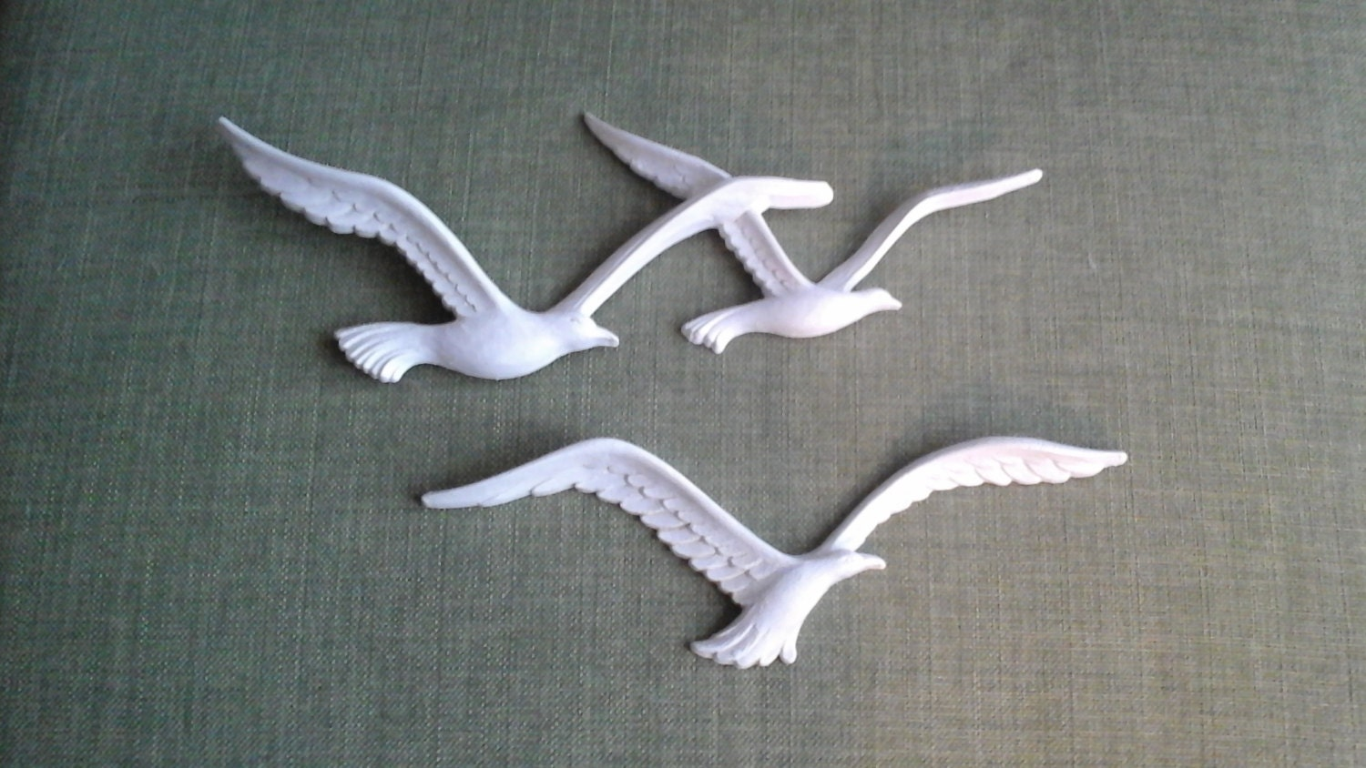 Homco seagulls wall decor plastic resin seagulls from the 70s for Resin wall art