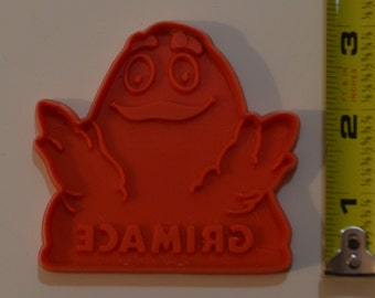 "Vintage GRIMACE COOKIE CUTTER | 1980 2 7/8"" x 3 1/16"" McDonald's Red"