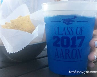 Personalized Graduation Color Changing Stadium  Cups {16 oz}