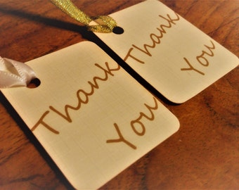 Thank you tags, Wedding favour tags, Hen party tags, Gold and Ivory wedding tags, Wedding tags.