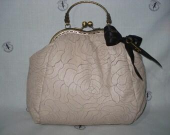 Pink Leather Vitage Bag