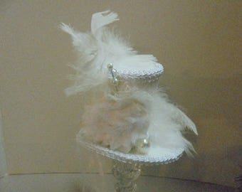Beautiful Bride, Top hat, Mad Hatter hat, Alice in Wonderland, Steampunk Hat, Tea Party, Steampunk Wedding, Mini top hat,  Steampunk