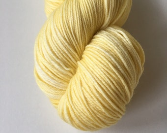 Sock Hand Dyed Australian 80/20 Merino Nylon Revelry Sock 4 ply fingering knitting yarn Yellow Honeyeater