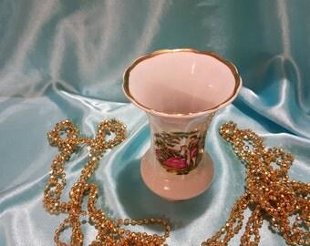 Fantastic porcelain flower vase  made in USSR Korosten factory