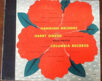 """Vintage """"Hawaiian Melodies"""" 78RPM Album by Harry Owens and His Royal Hawaiians - Columbia Records - 1948"""