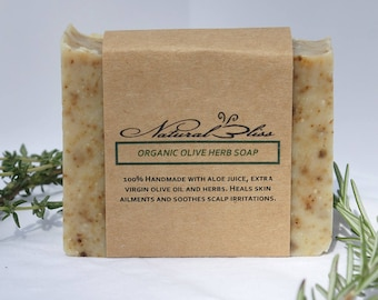 Organic Olive Herb Soap | Handmade | Herbal Scent