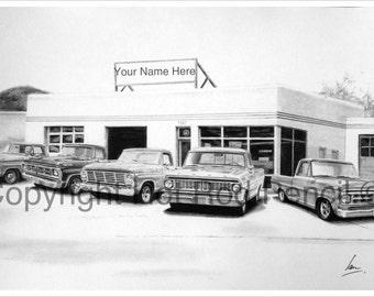 67 68 69 70 71 72 Ford F100 Pickup Truck Garage
