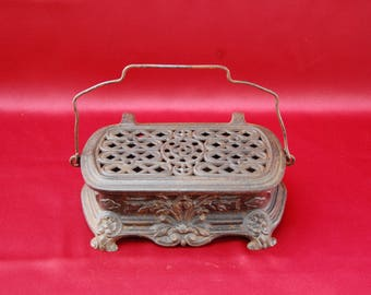 Antique French Cast Iron Heater