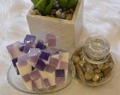 Peace - Purple & White luxury natural glycerin soap.