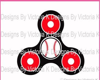 Baseball Spinner, Baseball, Hand Spinner, Spinning svg, SVG, PNG, EPS Files, Cricut Design Space, Vinyl cut Files