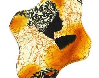 Gold Map Cloth Pad, reusable cloth pad