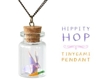 Hippity Hop Origami Pendant